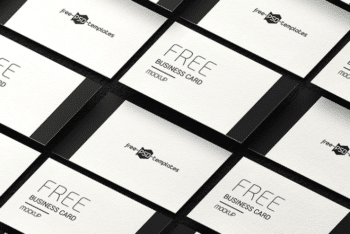 Free Business Card PSD Mockup Set – Available with Photorealsitic Appearance & Useful Features