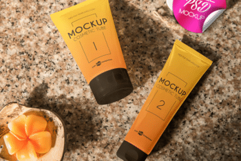 Useful Cosmetic Products Packaging PSD Mockup for Free