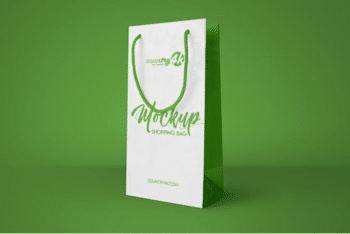 Creative Shopping Bag Design with Free Shopping Bag PSD Mockup