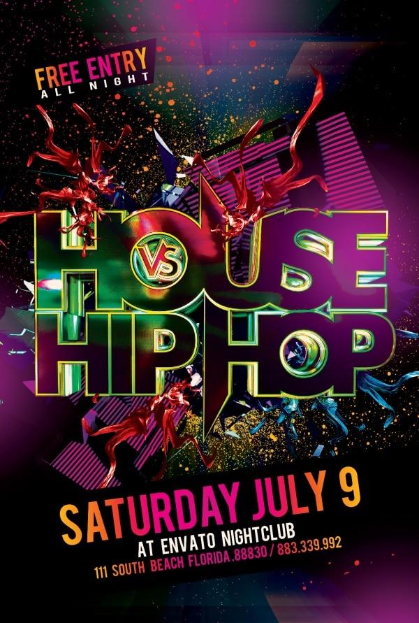 City Hip Hop Party Flyer
