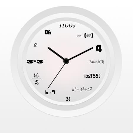 Digital Math Wall Clock