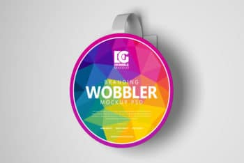 Use Wobbler PSD Mockup to Design Wobbler for Brand Promotion Activities