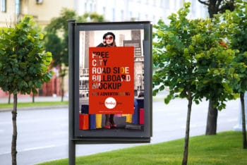 City Roadside Billboard PSD Mockup for Excellent Outdoor Advertising