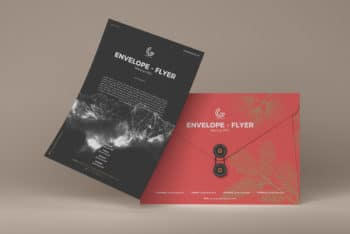 Flyer & Envelope Design PSD Mockup – Available for Personal & Commercial Purposes