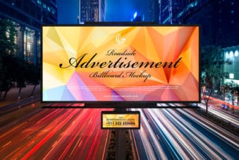 Free Roadside Billboard PSD Mockup for Spectacular Outdoor Advertising