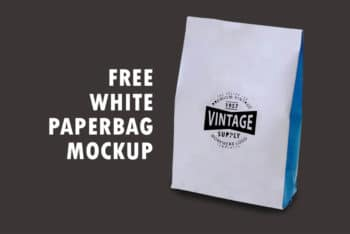 Fully Customizable Sober Designed Paper Bag Mockup – Available in PSD Format