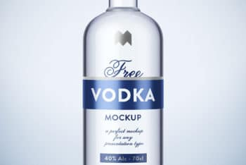 Vodka Bottle PSD Mockup for Free