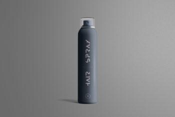 Hair Spray Bottle PSD Mockup for Free