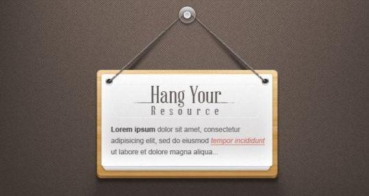 Hanging Note Design