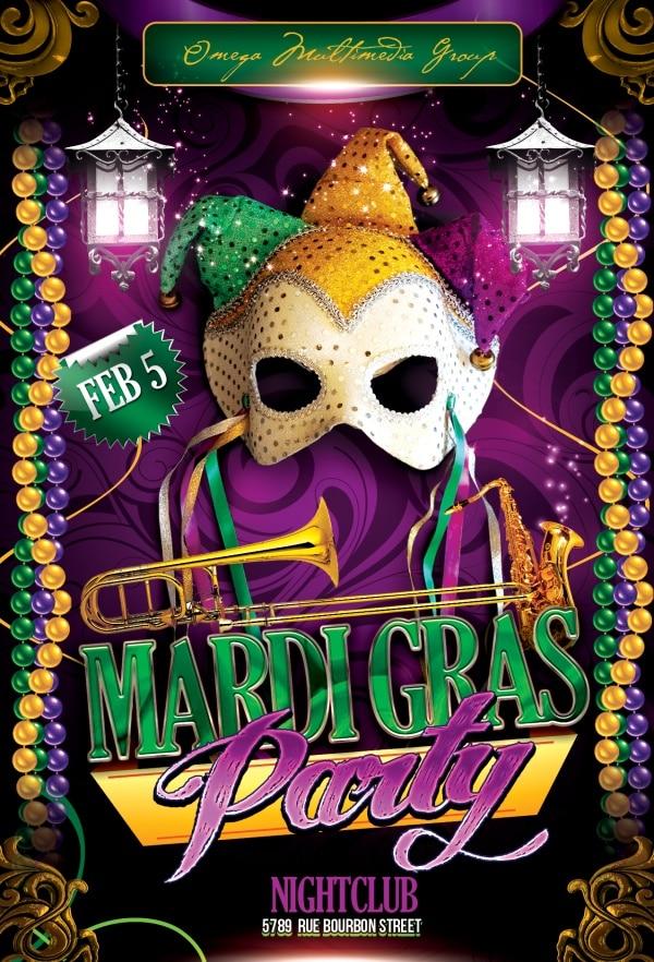 Luxurious Mardi Gras Flyer