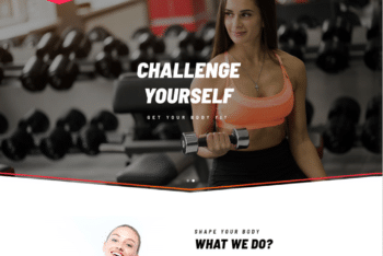 Free Gym Muscle Workout HTML Template