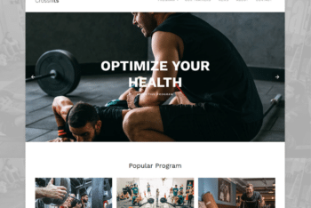 Free CrossFit Workout Website HTML Template