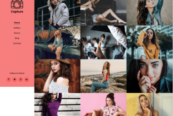 Free Artsy Photography Website HTML Template