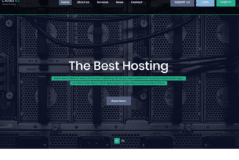 Free Cloud Hosting Website HTML Template