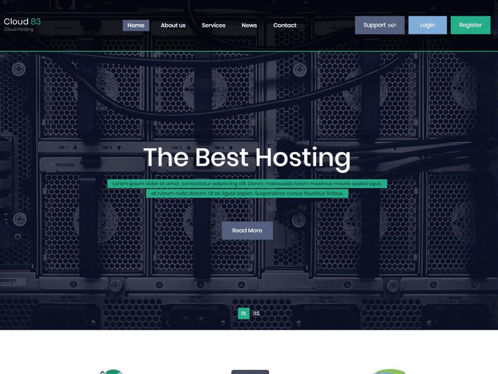 Cloud Hosting Website