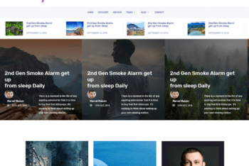 Free Useful Blogging Website HTML Template