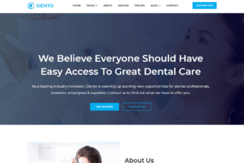 Free Dental Care Website HTML Template