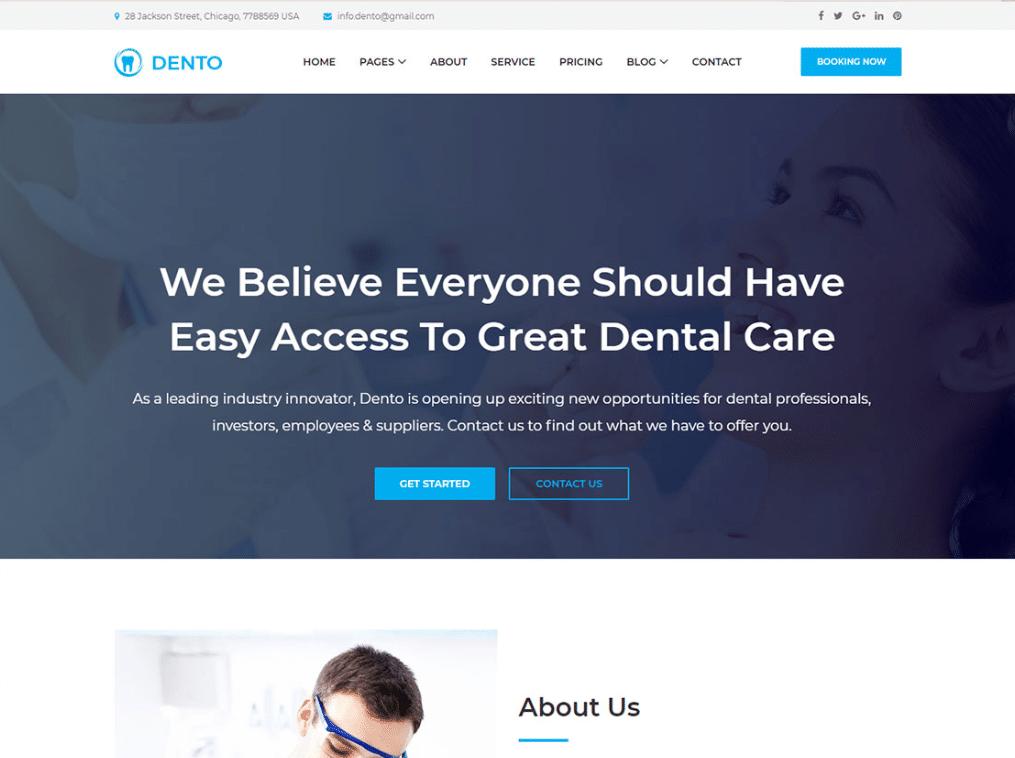 Dental Care Website
