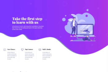 Free eLearning Educational Website HTML Template