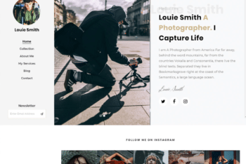 Free Still Life Photography Website HTML Template