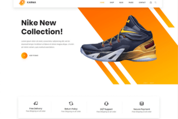 Free Shoe Collection Website HTML Template