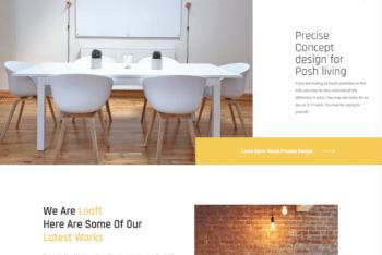 Free Interior Design Website HTML Template