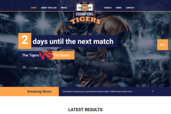 Free Sports Events Website HTML Template