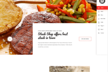 Free Juicy Steak Restaurant HTML Template