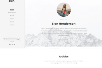Free Millennial Blogging Website HTML Template