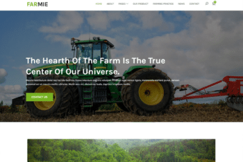 Free Modern Farming Website HTML Template