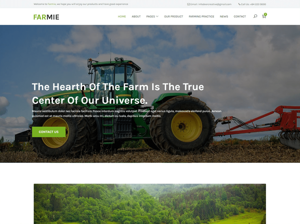 Modern Farming Website