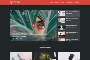 Free Modern Minimalist News HTML Template