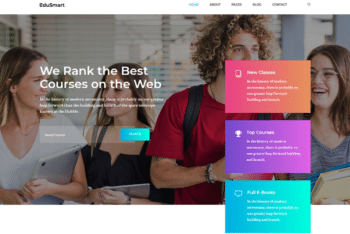 Free Educational Learning Website HTML Template