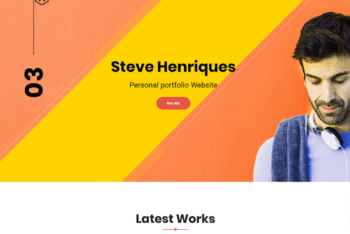 Free Stylish Business Portfolio HTML Template