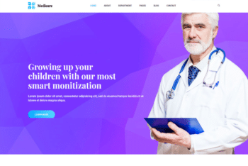 Free Medical Care Website HTML Template