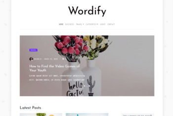 Free Writing Plus Journal Website HTML Template