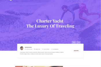 Free Luxury Yacht Travel Website HTML Template