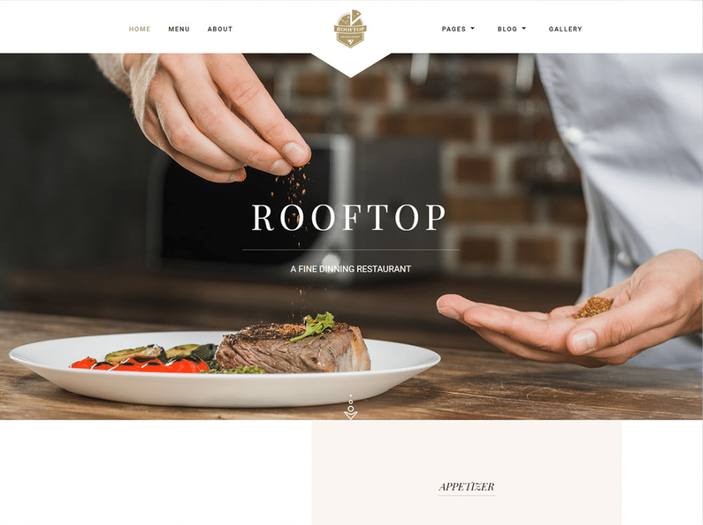 free fine dining restaurant website html template