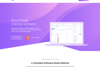 Free Software Landing Page HTML Template