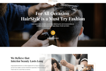 Free Barber Shop Website HTML Template