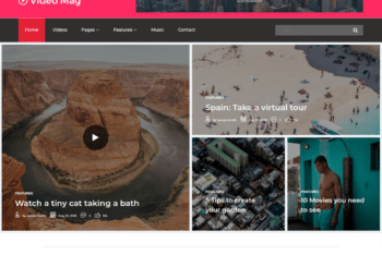 Free Video Magazine Website HTML Template