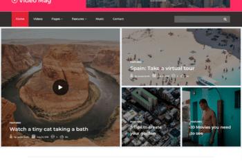Free Video Magazine Website HTML Template