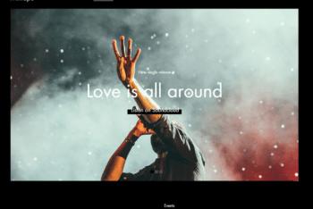 Free Music Artist Platform HTML Template