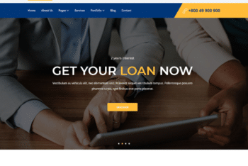 Free Online Credit Loan HTML Template