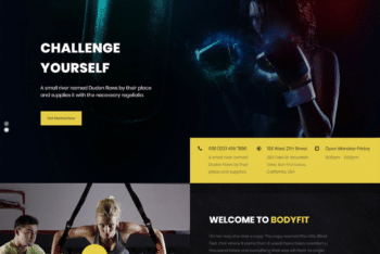 Free Intense Body Fitness HTML Template