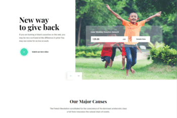 Free NGO Charity Website HTML Template