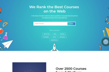 Free Educational Course Website HTML Template