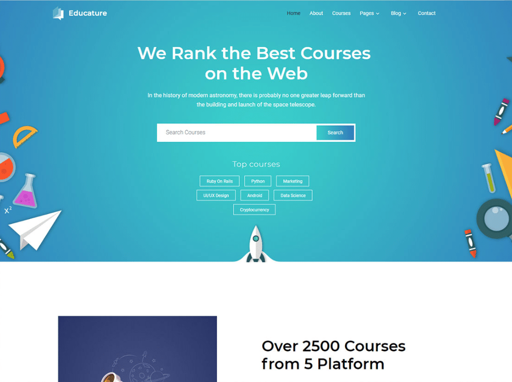 Educational Course Website