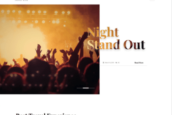 Free Party Blog Website HTML Template