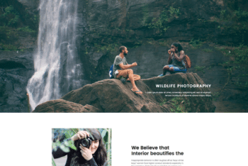 Free Wildlife Photography Website HTML Template
